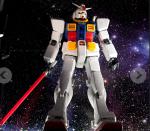 Cafe Gundam. Estatua en la entrada