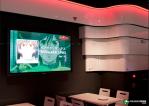 Gundam café. Exhibición de la serie.