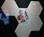 Gundam Cafe. Autógrafo del creador.