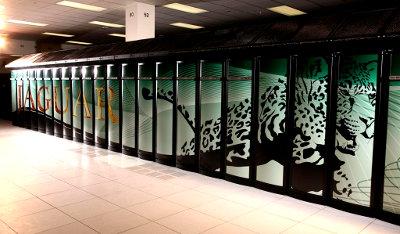 """Super computador """"Jaguar"""". Con sistema operativo Linux"""