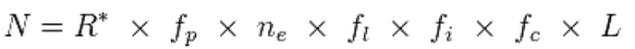 Formula de Frank Drake, para encontrar vida en la via lactea
